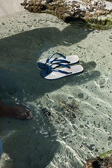 floating thongs (AS500) Tags: beach bay coast south australia thong nsw jervis myfeet callala