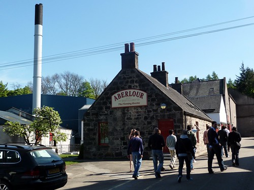 Tour Group at Aberlour Distillery