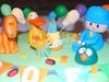 Pocoyo Garden Party 1 (Lola's Cake) Tags: party baby cake garden children balloon celebration ely fondant lolascake pocoyo pajaroto