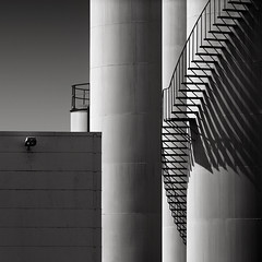 Frozen Music II (Joel Tjintjelaar) Tags: silo blackandwhitephotography industrialarchitecture longexposurephotography nd110 tjintjelaar joeltjintjelaar blackandwhitefineartphotography silverefexpro2 fineartarchitecturalphotography fineartarchitecture internationalawardwinningphotographer architecturallongexposurephotography blackandwhitefineartarchitecturalphotography