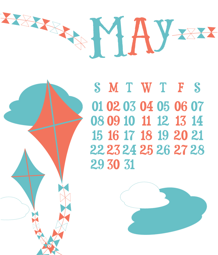 May Desktop Calendar