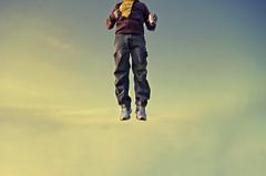 Beerman (georgekamelakis) Tags: portrait sky people man color beer shirt fly high jump nikon shoes wide tokina greece crete 12mm d300 cs3 beerman nickbid georgekamelakis