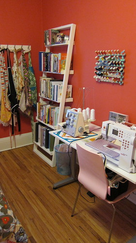 New Sewing Space - Upclose