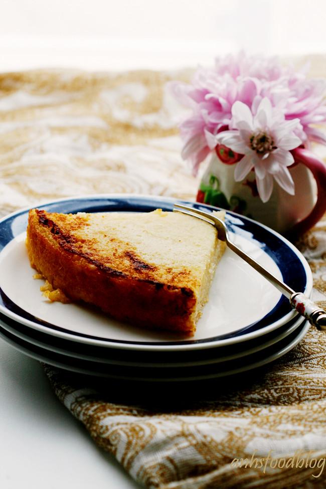Baked cassava cake (bánh khoai mì nướng)
