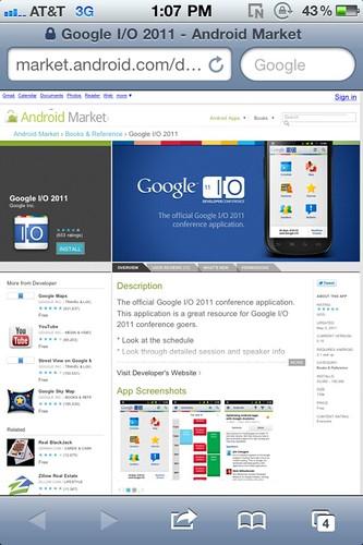 Google I/o app