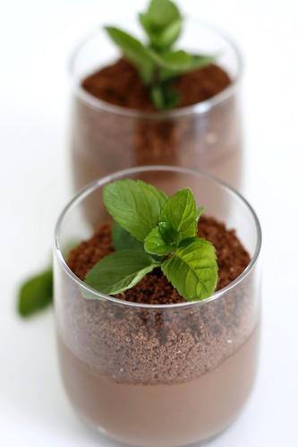 Pudding al cioccolato e menta