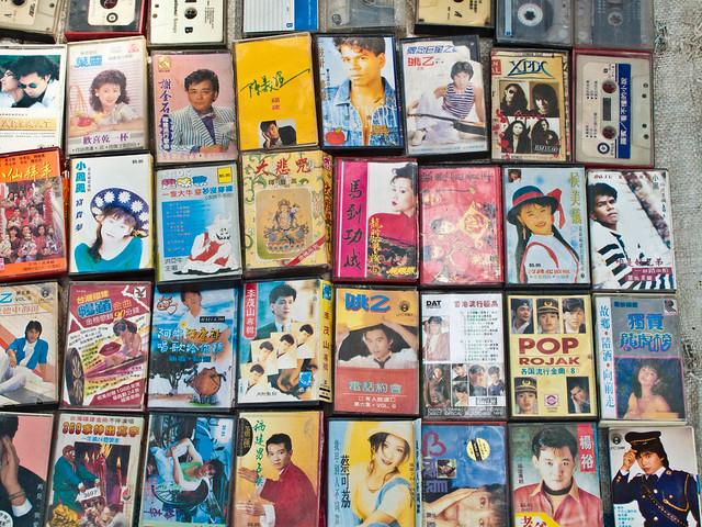 IMG_0646 Cassettes , 卡带- Flea market , Penang , 槟城跳蚤市场