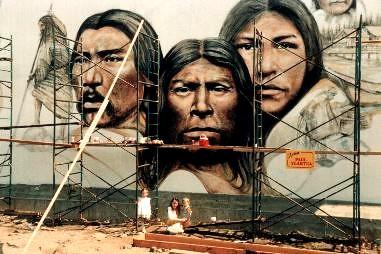Native Heritage mural by Paul Ygartua