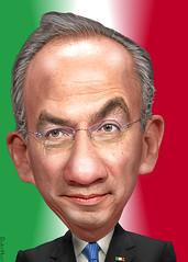 Felipe Calderón - Caricature
