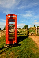 Phone Booth in the Middle of Nowhere! (sfPhotocraft) Tags: uk red england fence countryside gate europe phone britishisles unitedkingdom phonebooth telephone farmland british middleofnowhere redphonebooth cotwolds greatbritian sapperton theunitedkingdom englishphonebooth
