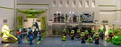 Alien Conquest : Breakout (Legoagogo) Tags: lego indy batman stormtrooper chichester adu afol alienconquest ailendefenceunit