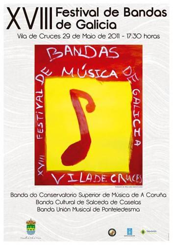Vila de Cruces 2011 - Festival de bandas - cartel