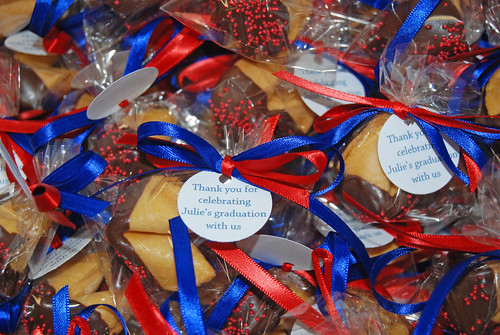 chocolate dipped fortune cookie graduation party favors University of Arizona