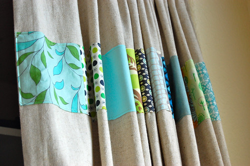 some patchwork curtains