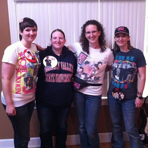 Headed to #NKOTBSB! Fun with my sisters :-)