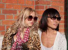 Over There (Jigsawn) Tags: girls friends red summer portrait people woman brick london girl beautiful sunshine sunglasses wall thirties spring cool emily model glamour pretty looking close bright gorgeous models chinese young relaxing posing sunny kitsch shades chilling jacket together blonde attractive shorthair casual lipstick earlytwenties oriental striking modelling leaning blackhair glamor hangingout 30s stylish 20s redbrick leopardskin glamorous fashionable centrallondon 2025 twenties glamourous 2011 early20s early30s
