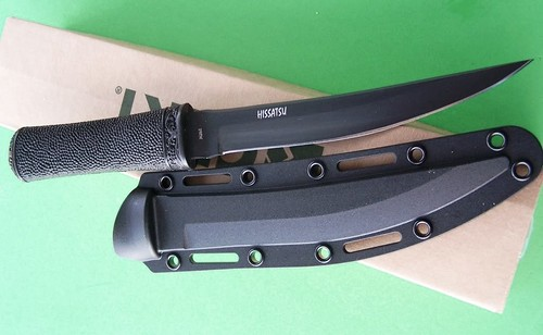 "Columbia River Hissatsu Tactical Knife 6.62"" Black Blade Kydex Sheath"