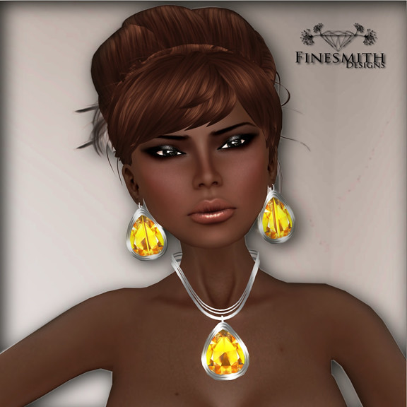 Citrine necklace and earrings