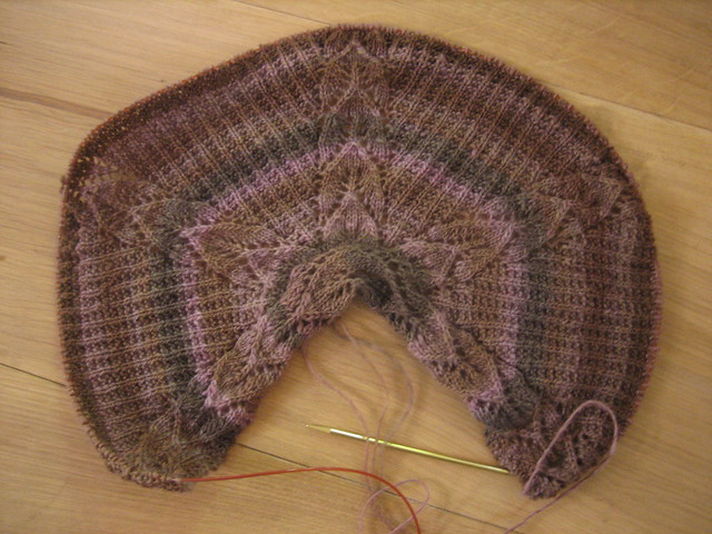 GT's shawl WIP
