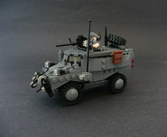 Cougar AFV. (Lego Junkie.) Tags: lego military builders vehicle block fighting cougar armored futuristic afv