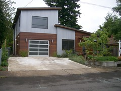 A modern house along Harrison Street, just east of Mount Tabor