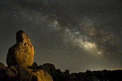 via lattea con granito (wild friday) Tags: sardegna longexposure sky night dark stars sardinia astronomy nocturne notte notturno stelle milkyway vialattea sgualdini