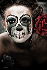 (Simple Insomnia) Tags: portrait woman girl dark dayofthedead skeleton makeup dadelosmuertos