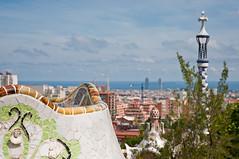 "Parc Güell, panorama (TomStardust) Tags: barcelona trip spain nikon espana giugno vacanza barcellona vacanze spagna gaudì parcguel 2011 d90 gaud gaud"""