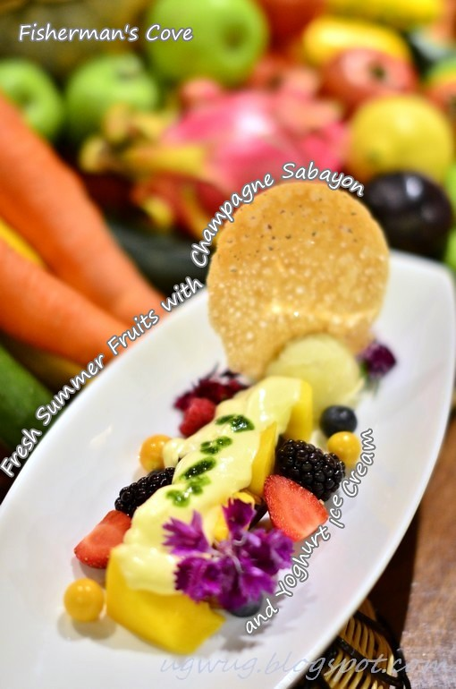 Fresh Summer Fruits with Champagne Sabayon & Yoghurt Ice Cream