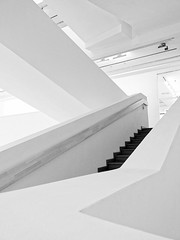Zigzags (Sergey Skleznev) Tags: interior brokenline zigzag stairs staircase stairway banister parapet balustrade ceiling light white flat