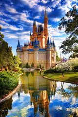 Cinderella Castle (Jeff_B.) Tags: reflections orlando mainstreet andromeda hd wdw waltdisneyworld magical royalty magickingdom waltdisney cinderellacastle fantastyland andromeda50