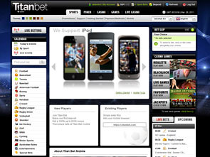 Titan Bet Sportsbook Lobby