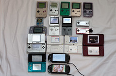 Handheld collection (Morku) Tags: light boy game color colour classic lite psp portable 2000 slim fat sony nintendo ds mini screen collection sp micro gb handheld dual pocket advance gameboy console playstation pokmon xl ll 1000 dsl handhelds 3ds famicom dsi gba brighter gbp consoles gbc konsole gbm sammlung gbl konsolen