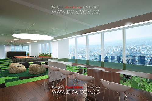 Singapore Standard Chartered Bank at Marina Financial Centre 3D Rendering