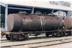 VTQF 502 G Bairnsdale 11/1993 (booksvic) Tags: tank railway vr wagons vline