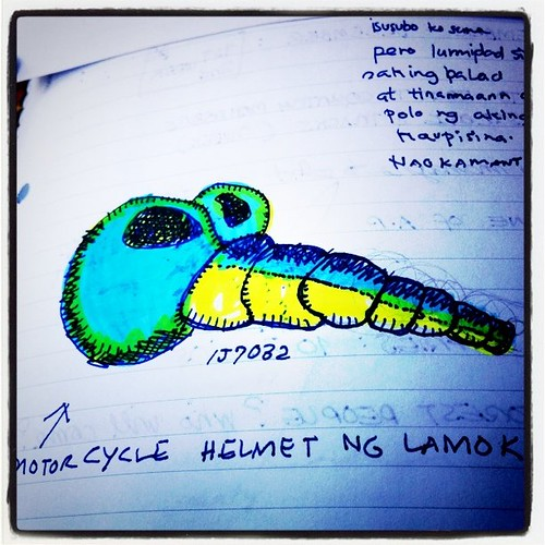 Lumang Sketch, June 2005: Motorcycle helmet ng Lamok