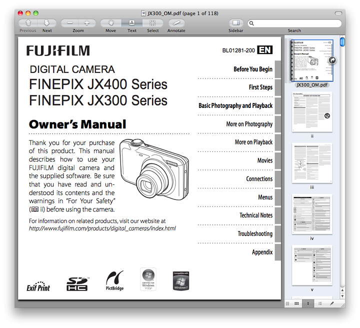 Fuji JX300 Manual