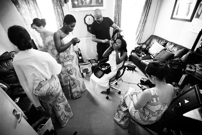 Grace's bridesmaids getting ready