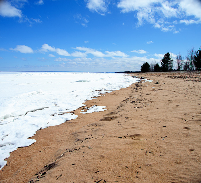 Lake Superior Beach in March