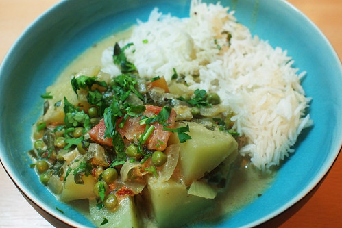 Potato coconut curry