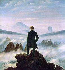Caspar D. Friedrich - Caminante sobre el mar de nubes - 1818