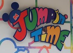 Jumpin' Time logo before/after the show (haphopper) Tags: art word logo entertainment font themepark tokyodisneyland adventureland tdl tdr  2011 superduperjumpintime