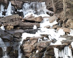 Icy Bastion Falls, Kaaterskill Creek, Catskill Mountains, New York (jag9889) Tags: ny newyork storm mountains creek town waterfall google state flood falls level hunter icy catskills palenville cascade nys tannersville kaaterskill greenecounty hainesfalls kaaterskillcreek bastionfalls route23a