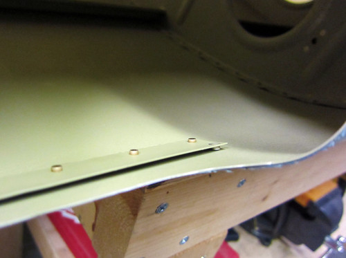 Upper Landing Light Lens Bracket in Place