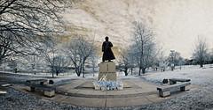 Dr Sun Yat-Sen, Riverdale Park. (syncros) Tags: park sun toronto ontario statue dr infrared stitched riverdale yatsen ptgui