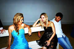 Chatting in the club (theboyfromipanema) Tags: party portrait club women candid sony posing blonde talking chatting spontaneous sonya350