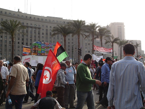 Tunsiai and Libya at the protest