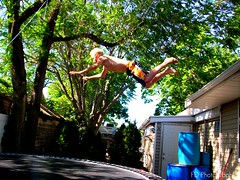 belly flop (fdurham14) Tags: roof house jumping trampoline belly trick flop tramp