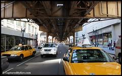 Fleet Street (JamesLeeJunior) Tags: street bridge urban chicago train canon taxi taxis taxidriver