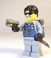 The Other Nate:  Cave Recon Dude (CrazyBrck) Tags: nathan lego l custom minifigure brickarms brickforge crazybrick